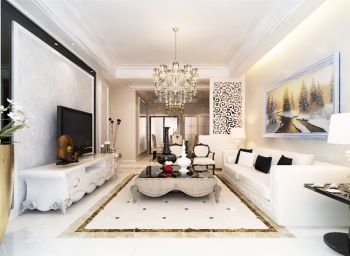 欧式风格160平米三居室房子装修效果图