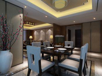 现代中式风格160平米三居室房子装修效果图