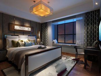 卧室飘窗现代中式风格装饰效果图