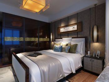 卧室吊顶现代中式风格装潢效果图