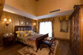美式风格160平米二居室房子装修效果图