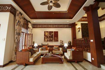东南亚风格160平米四居室房子装修效果图
