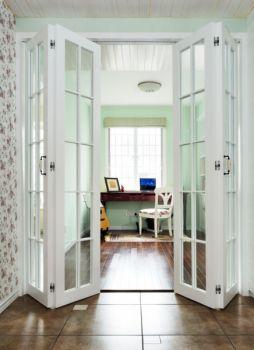 清新绿色田园三居室家庭装修案例图