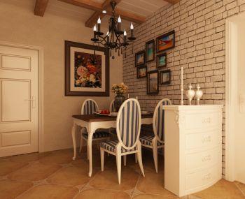餐厅照片墙地中海风格装修图片