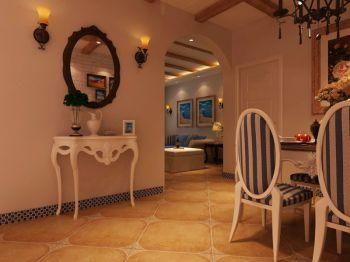 餐厅背景墙地中海风格装潢图片