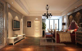 卧室背景墙现代欧式风格装潢效果图