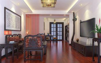 混搭风格110平米二居室房子装修效果图