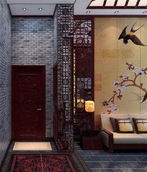 玄关走廊中式风格装修设计图片