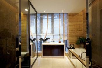 卫生间背景墙古典风格装饰图片