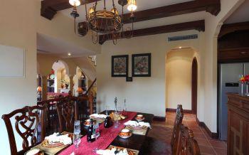 餐厅背景墙东南亚风格装潢设计图片