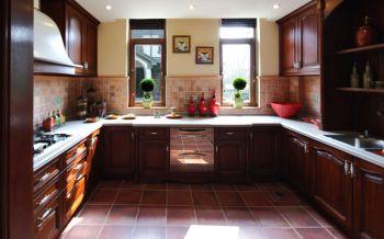 厨房橱柜东南亚风格效果图