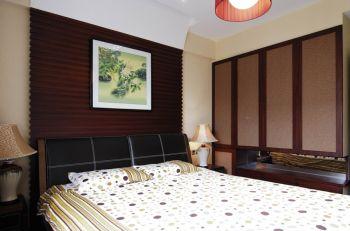 新中式风格90平米二居室房子装修效果图