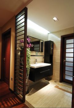 卫生间隔断新中式风格装饰设计图片