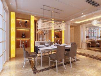 现代欧式风格160平米四居室房子装修效果图