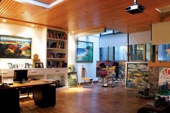 书房吊顶后现代风格效果图