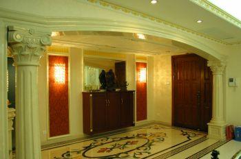 玄关背景墙新古典风格装修设计图片