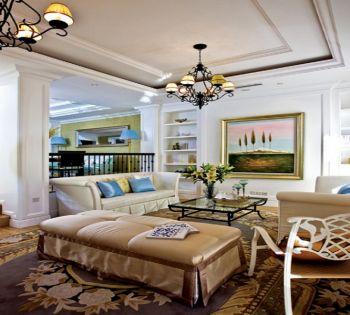 客厅照片墙简欧风格装修效果图