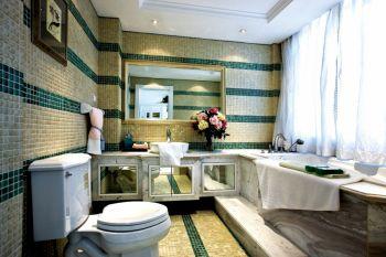 卫生间窗帘简欧风格装修图片