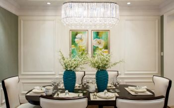 餐厅背景墙现代欧式风格效果图