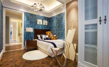 儿童房背景墙现代欧式风格装潢效果图