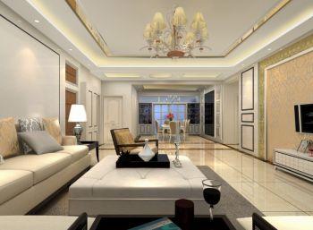现代简约风格110平米大户型新房装修效果图