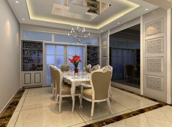 餐厅推拉门现代简约风格装潢效果图