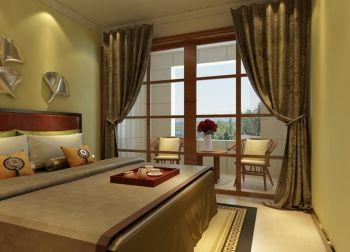 卧室黄色窗帘韩式风格效果图