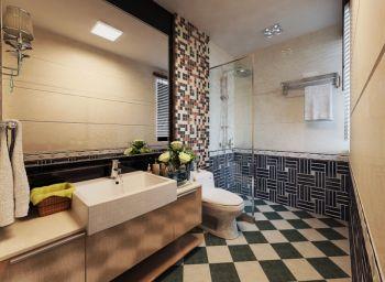 卫生间背景墙现代风格装潢效果图