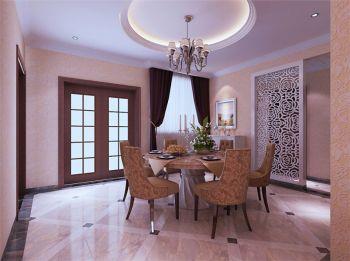 简欧风格160平米三居室房子装修案例图