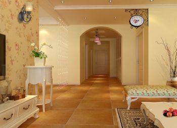 客厅背景墙欧式田园风格装饰设计图片