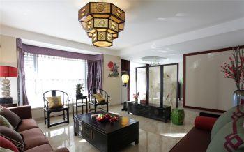 中式风格160平米三居室房子装修效果图