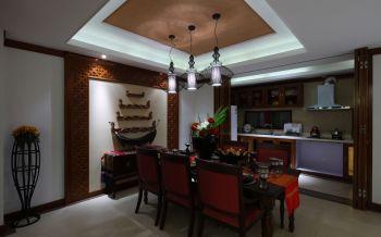 餐厅吊顶东南亚风格装修设计图片