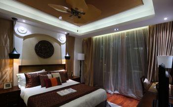 东南亚风格160平米三居室房子装修效果图