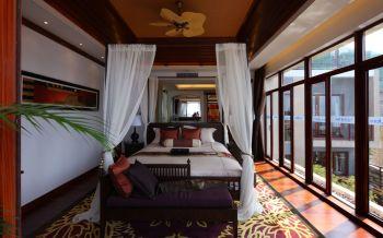 卧室窗帘东南亚风格效果图