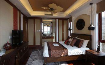 卧室吊顶东南亚风格装修效果图