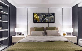卧室背景墙现代简约风格效果图