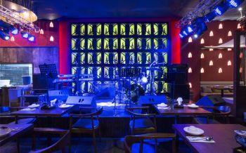 泰信宫餐厅歌手表演台装潢设计图片