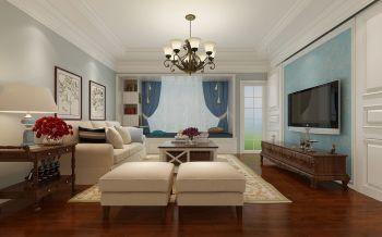 现代简约风格90平米二居室房子装修效果图