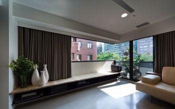 客厅咖啡色背景墙后现代风格装修图片