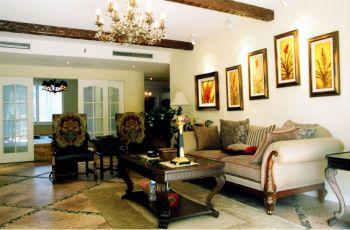 客厅白色照片墙简欧风格装饰图片