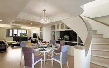 餐厅楼梯现代简约风格装修设计图片