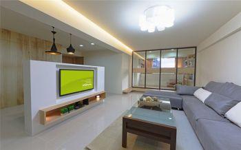 客厅背景墙日式风格装潢效果图
