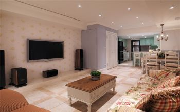 田园风格160平米三居室房子装修效果图