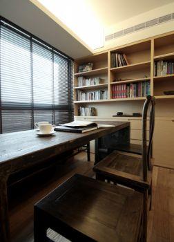 书房橱柜现代中式风格装潢设计图片