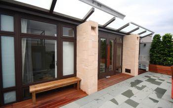 阳台窗台现代中式风格装饰效果图