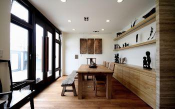 餐厅背景墙现代中式风格装潢效果图