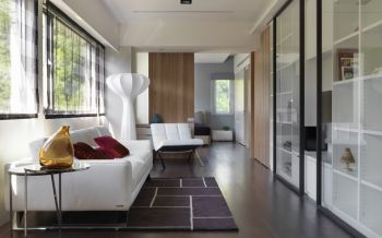 客厅推拉门现代简约风格装修图片