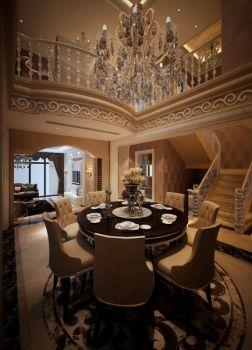 餐厅咖啡色吊顶欧式风格装潢图片