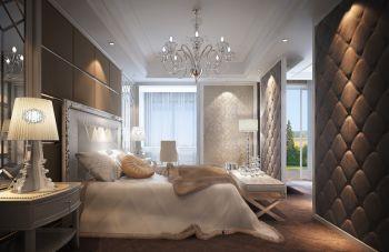 卧室咖啡色隔断欧式风格装修设计图片