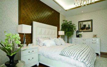 卧室黄色背景墙现代中式风格装修设计图片
